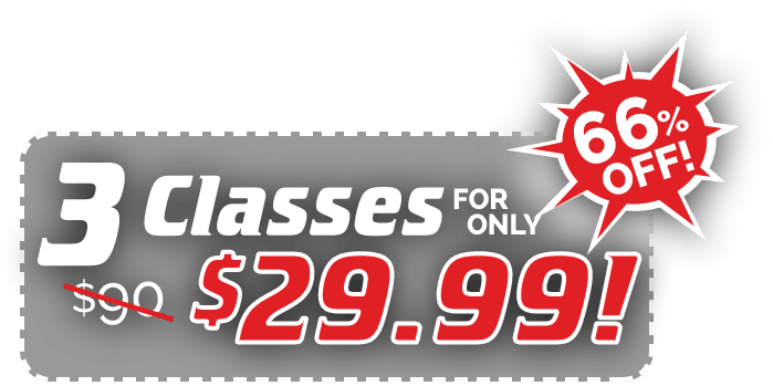 3 Classes for only $29.99