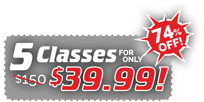 5 Classes for only $39.99!